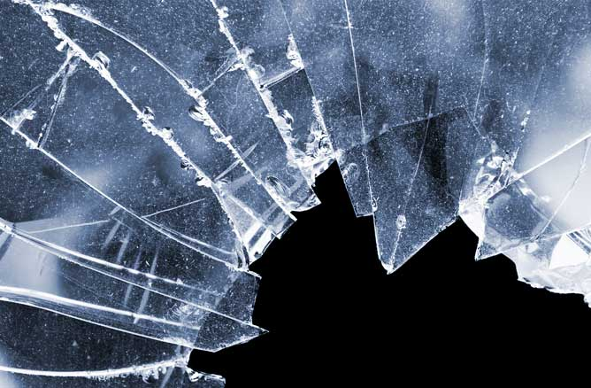 Broken Glass at Residential Property