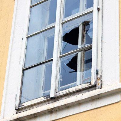 Broken Window at Home