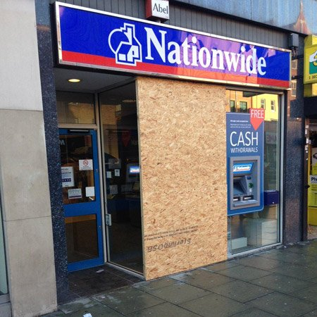 Nationwide boarding up london